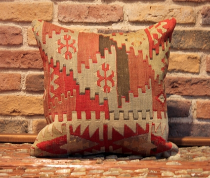 Decorative semi-old Kilim Cushion Cover- Ernemet.com