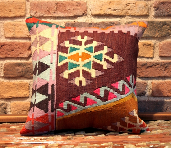 Hand Woven Kilim Pillow Cover