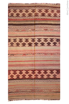Vintage Handwoven Fethiye Origined Turkish Kilim