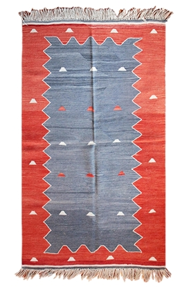 Handwoven wool on wool Turkish Kilim